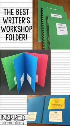 Writer's Workshop Folders - I will never run Writer's Workshop without these folders again! They help to keep students organized, as well as teach them how to move a piece of writing through the entire writing process! Writers Workshop Folders, Writing Folders, Writer Workshop, Fourth Grade Writing, Kindergarten Writing, Teaching Writing, Writing Activities, Literacy, Writing Resources