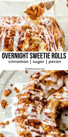 Overnight Sweetie Rolls are a super moist, delicious sweet roll to make up. A great Christmas morning breakfast idea to make for family and friends. Delicious Donuts, Delicious Breakfast Recipes, Best Dessert Recipes, Brunch Recipes, Fun Desserts, Brunch Ideas, Dessert Ideas, Yummy Food, Make Ahead Breakfast Casserole