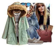 """""""#WinterCold"""" by luuluxox ❤ liked on Polyvore featuring Royce Leather, Wrap, Charlotte Russe, Burberry, J.Crew, Fairyland, New Balance, women's clothing, women's fashion and women"""