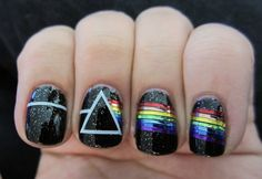 Dark Side of the Moon Nails