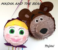 MASHA Masha and the bear pinata birthday gift by PinjateNoviSad