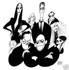 Al Hirschfeld - Adams Family