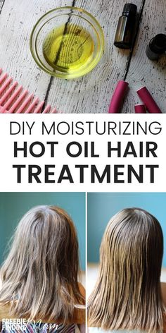 Is your hair looking dry and dull? Give it the makeover it needs by using this Homemade Oil Treatment for Hair. Not only does this moisturizing hot oil hair treatment hydrate your hair, but it will strengthen it and add shine as well. Simply mix coconut o