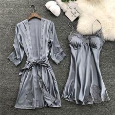 Women's Chemises, Nightwear, Silk Pajamas, Pyjamas, Lace Nightgown, Dress Robes, Women Lingerie, Lingerie Silk, Sexy Lingerie