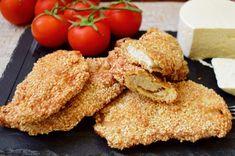 Șnițele din piept de pui în crustă de susan. Cei mici le vor îndrăgi, dar și cei mari la ele vor pofti! Grains, Rice, Meat, Chicken, Vegetables, Food, Essen, Vegetable Recipes, Meals