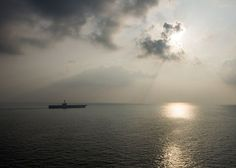 The aircraft carrier USS Harry S. Truman transits the Gulf of Oman, Jan. 31, 2014.