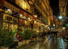 Bistrot De Lyon Brasserie, Lyon, France - Who took this photo? - Very nice shot. | #Photography #Travel #Places |
