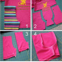 Skort--shorts from old t-shirts craft whatever: {Tutorial} Sew a Skort from 2 Tshirts