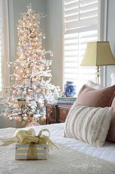 The Blush Christmas Master Bedroom