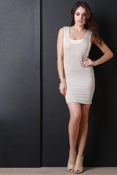 Sporty Long Armhole Mini Dress #ottd #womenfashion #summerdress #bodycon #bodycondress #partydress