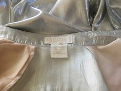 Vintage Escada Metallic Silver Silk Shirt   Size 40  Good condition by VINTAGEwithaSMILE on Etsy