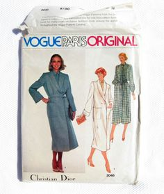 Vogue Pattern Original Christian Dior Sewing Pattern, Uncut, 2046, Size 14