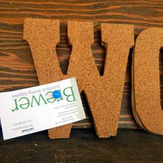DIY Cork Words Bulletin Board