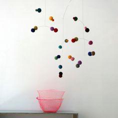 Puka Puka - Polka dot mobile - rich colours - large
