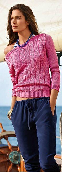 Ralph Lauren Resort 2014 : Love those Summer Sweaters - Fabulous Sweatpants