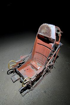 Ejection seat at Aviation Warehouse in El Mirage, CA, a Mojave Desert aircraft boneyard that services the film industry as well as recycles aircraft parts. Aviation Decor, Ejection Seat, Aircraft Parts, Learning To Drive, Arcade Machine, Luftwaffe, Military Aircraft, Car Parts, Outdoor Chairs