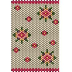 Bead Tube Flower cover, bead pattern for peyote or brick