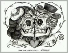 day of the dead bride and groom tattoos - Google Search