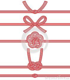Illustration about Mizuhiki and Japanese family crests. mizuhiki : decorative Japanese cord made from twisted paper. Illustration of decorative, japan, year - 44376203 Japanese Gift Wrapping, Japanese Gifts, Vintage Japanese, Japanese Design, Japanese Art, Shibori, Japanese Family Crest, Asian Cards, Red Packet