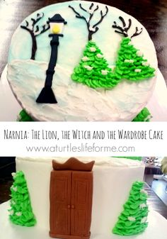 Narnia Lion, Witch, and the Wardrome Winter Birthday Cake from A Turtle's Life for Me
