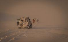 snowstorm - arctic ocean