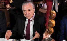 Jantar promovido por Temer em churrascaria custou R$ 13, 8 mil aos cofres públicos
