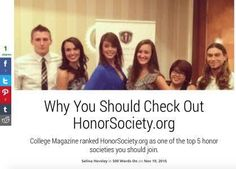 """Take a peek at the article by Odyssey's local writer  @seenieinabottle titled """"Why You Should Check out HonorSociety.org."""" Honor Society, Writer, Take That, College, Magazine, Check, University, Writers, Magazines"""