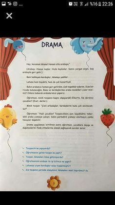 Oyunlar Turkish Lessons, Learn Turkish, Grade 1, Drama Drama, Quizzes, Activities For Kids, Preschool, How To Plan, Education