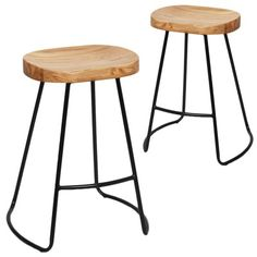 Vintage-Style Elm Wood Counter Stools (Set of by Dwell Home. Get it now or find more Bar Stools at Temple & Webster. Industrial Style Kitchen, Industrial Bar Stools, Parisian Kitchen, Bar Furniture For Sale, Dining Furniture, Furniture Ideas, Wood Counter Stools, Kitchen Stools, Bar Chairs