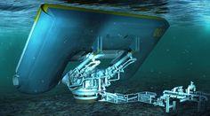 CGI IN ACTION: Aquamarine Power dives underwater  #cgi #architectural #visualisation #3d #animation