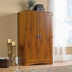 computer armoire in abbey oak finish