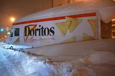 Abandoned Doritos Truck Gets Looted In Buffalo