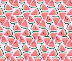 watermelon fabric by kristinnohe on Spoonflower - custom fabric