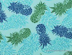 Pineapple Cotton Fabric. By HawaiianFabricNBYond on Etsy