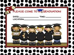 Free Kindergarten Graduation Invitations..Super cute!