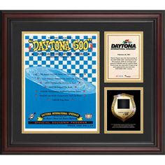 Fanatics Authentic 1961 Daytona 500 Program 3 Photograph Core Collage with Sprint Tower Banner-Limited Edition of 500 - $89.99