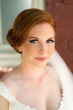 redheaded bride makeup, photo by LaCross Photography http://ruffledblog.com/notwedding-charlotte #weddingideas #weddingmakeup #bridal