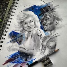 Marilyn Monroe Gangster | Gangster Marilyn Monroe Drawings Tupac and marilyn…