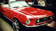 Vintage Mustang Red by W00den-Sp00n. Taken at the Sydney Royal Easter Show 2013.