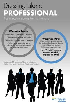 Dressing like a professional. Tips for students starting their first internship