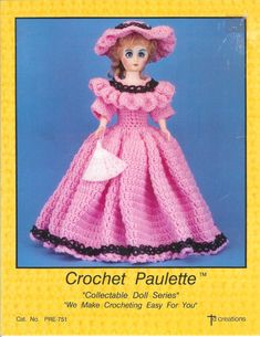 Vintage 1987 Crochet Outfit for Paulette by Td by lucysbud on Etsy