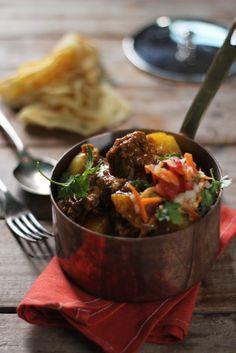 Cape Malay Lamb Curry with Tomato Sambal - Sarah Graham Food Lamb Recipes, Curry Recipes, Cooking Recipes, Healthy Recipes, Potato Recipes, Dinner Recipes, South African Recipes, Indian Food Recipes, Ethnic Recipes