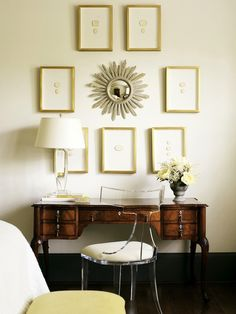 Subtly sophisticated gallery wall
