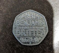Benjamin britten 50p. Extremely rare collectable!! Great condition