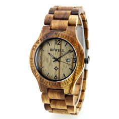 Wooden 'Tiger' watch Hot&Tot <3