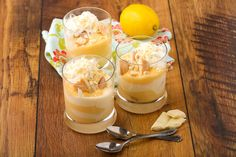 Hamis tiramisu citromkrémmel Recept képpel - Mindmegette.hu - Receptek Desserts In A Glass, Tiramisu, Ricotta, Panna Cotta, Pudding, Sweets, Ethnic Recipes, Food, Mascarpone