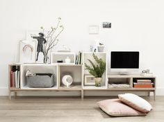 The STACKED system provides a storage solution with endless possibilities.