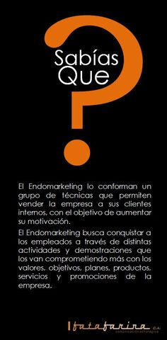 ¿Sabías que?....Endomarketing