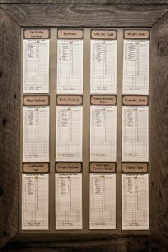 Baseball Wedding Reception | Vintage Basebell Wedding: Reception Seating ... | Blacy Wedding Ideas