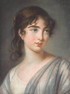 A charming pastel portrait by Élisabeth Vigée-Lebrun of Corisande Armandine Sophie Leonie de Gramont (1783-1865), the daughter of Aglaé de Polignac, Duchesse de Guiche and granddaughter of Yolande Gabrielle de Polastron, Duchesse de Polignac.